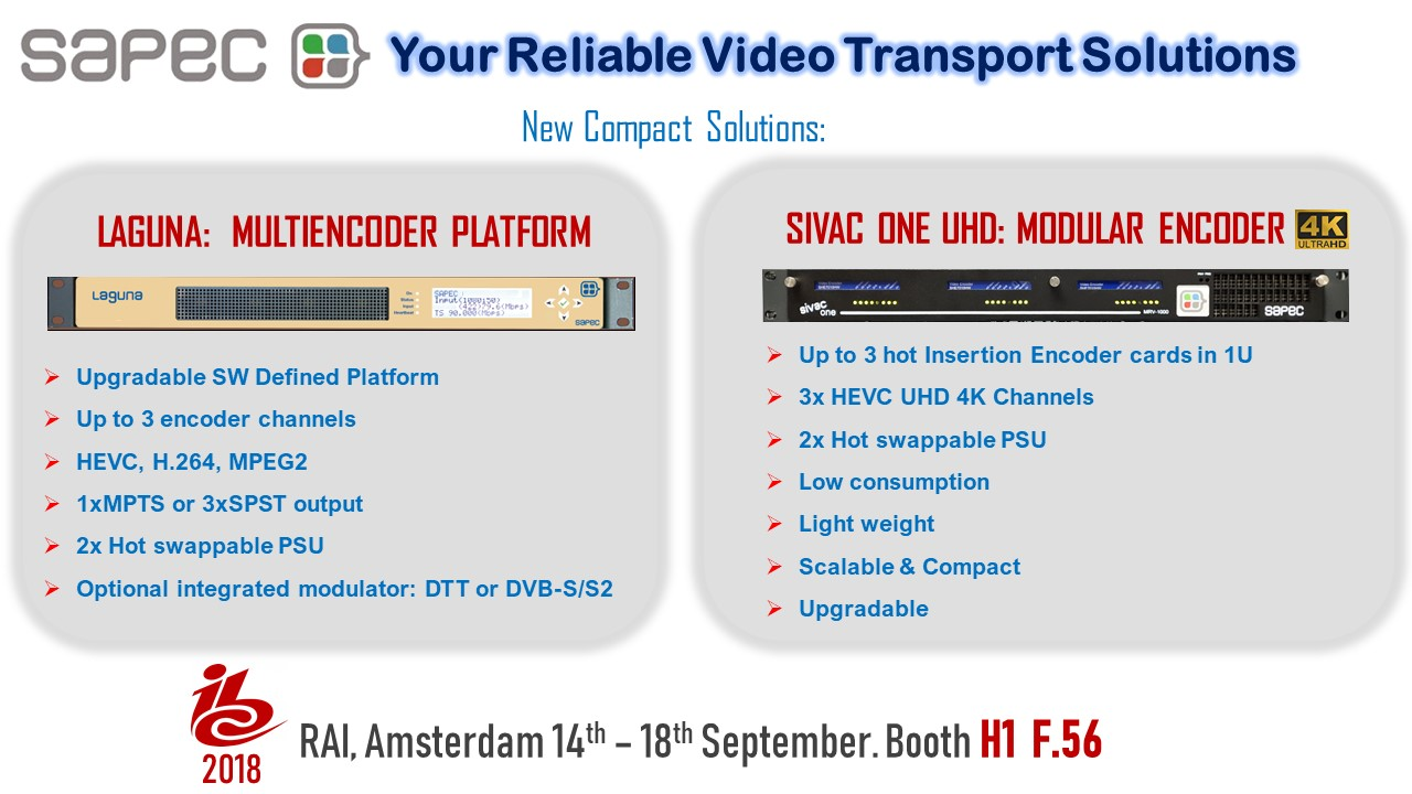 SAPEC at IBC 2018 - SapecSapec